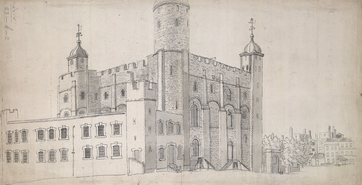 North-east prospect of the White Tower, May 12th 1782